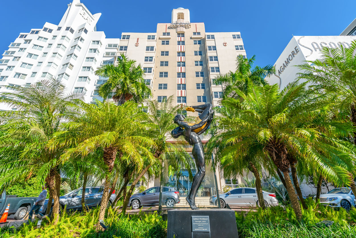 Front of The National Hotel Miami Beach
