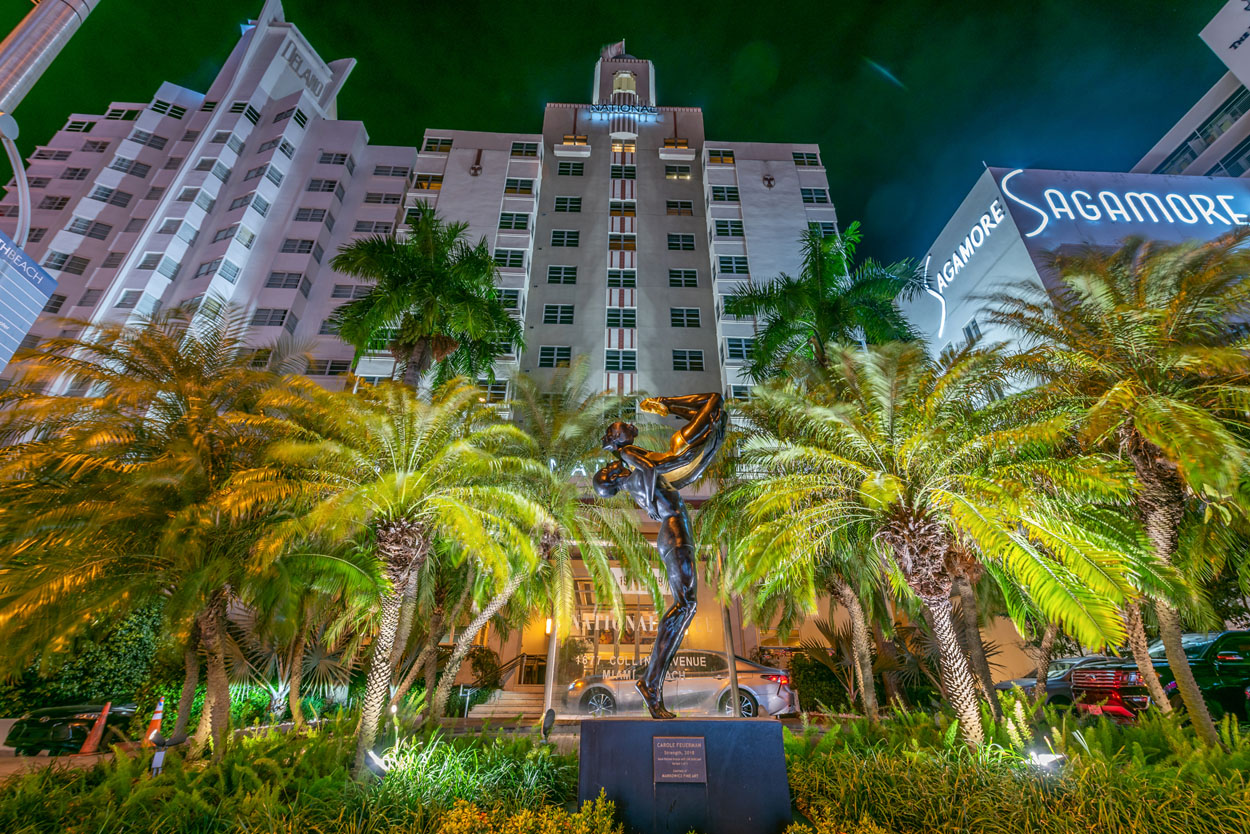 The National Hotel Miami Beach at Night