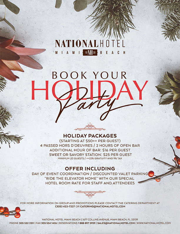 Company Holiday Parties at The National Hotel
